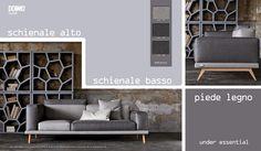 Under è una #divano essenziale, che nasce da un'innovativa idea di #design. Schienale alto o basso, piede in #legno e #tessuti coordinabili, scoprili tutti: http://www.under.doimosalotti.it/ #doimo #divanogiovane