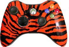 Amazon.com: 11 Mode Rapid Fire Xbox 360 Wireless Controller - Orange Zebra Controller Includes Adjustable Rapid Fire, Controller Compatible ... #xbox360controller #customxbox360controller #moddedxbox360controller #customcontroller #moddedcontroller