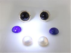 Amazing creation! You can change the color of your earrings!  Change your earrings from black to blue or to white!!....You can have your cake and eat it too!