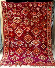 Moroccan Boujaad tribal woollen rug 273 x 193 cm