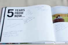 5 years from now guest book... Image: The Mondays Photography