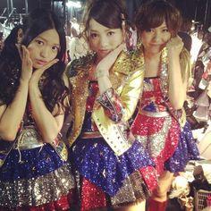 Kitarie, Akicha and Sae during SSA concert #AKB48