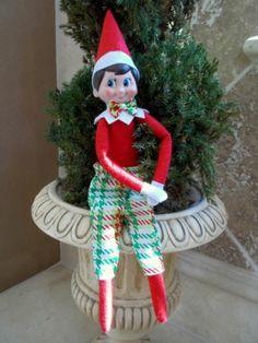 Handmade Elf on The Shelf Boy Clothes Plaid Bow Tie Pants   eBay