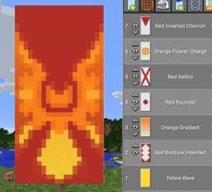 Minecraft Banner Patterns, Cool Minecraft Banners, Minecraft Food, Minecraft Plans, Amazing Minecraft, Cool Minecraft Houses, Minecraft Tutorial, Minecraft Crafts, Minecraft Designs