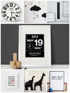 Cool black and white decor ideas for nurseries or kids' rooms