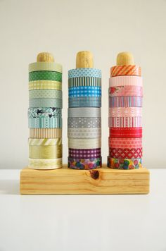 The Original Washi Tape Organizer Wood Masking by 464Handmade