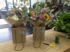 Another couple of aqua packed gift bouquets all done up and ready to be delivered!