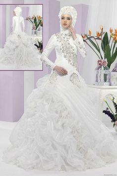 Discount Muslim Hijab Wedding Dress Muslim Wedding Gown Pictures Muslim Bridal Wedding Dress  From Trustful Online Seller Easebuydress