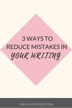 It's easy to make mistakes when you are writing, click through to read 3 ways you can reduce the amount of mistakes in your writing. Make Money Online, How To Make Money, Creative Writing Tips, Online Blog, Making Mistakes, In Writing, Instagram Tips, Good Advice, It's Easy