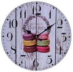 Hodiny s makronky Clock, Wall, Home Decor, Watch, Decoration Home, Room Decor, Clocks, Walls, Home Interior Design