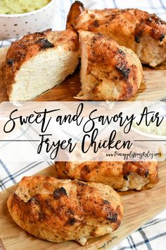 This Sweet and Savory Air Fryer Chicken is the simple, healthy, and delicious! Just mix the rub, put it on the chicken, and cook in the air fryer at 360 for 25 minutes. Air Fryer Recipes | Air Fryer Recipes Healthy | Air Fryer Chicken Breast | Air Fryer Recipes Chicken | Air Fryer Recipes Easy | Air Fryer Recipes Healthy Dinners | Air Fryer Recipes Healthy Low Carb | Air Fryer Recipes Easy Dinner | Air Fryer Recipes Keto | Easy Recipes | Easy Recipes Healthy | Easy Dinner Recipes | Chicken Air Fryer Recipes Chicken Breast, Air Fryer Recipes Keto, Chicken Recipes, Healthy Dinners, Easy Healthy Recipes, Healthy Dinner Recipes, Easy Meals, Healthy Eats, Healthy Baked Chicken