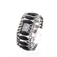 Mode Armbanduhr für Damen mit Armband aus Juwel Edelstahl