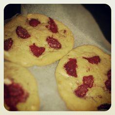 Homemade Raspberry cheesecake cookies
