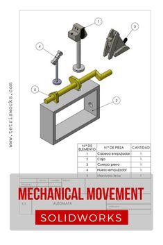 Diseño y movimiento de un juguete autómata con SOLIDWORKS #automata #solidworks #planos Mechanical Projects, Mechanical Engineering, Cad Software, Class Projects, Autocad, Industrial Design, How To Plan, 3d Sketch, Sketching