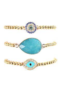 Eye My Wrist Stretch Bracelet Set