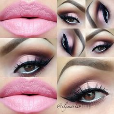 Makeup love. Pink lips.