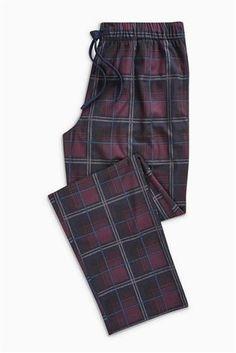 Buy Plum Check Cosy Long Bottoms from the Next UK online shop Next Uk, Pjs, Nightwear, Lounge Wear, Underwear, Pajama Pants, Two Piece Skirt Set, Vogue, Sweatpants
