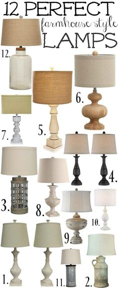 Shop the lamps above with these affiliate links: 1// 2// 3// 4// 5// 6// 7// 8// 9// 10// 11// 12// Shop the lamps above & a lot more by clicking the individual photos below: Some farmhouse lam…