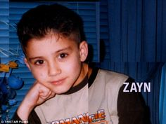 Getting ready for the photoshoots: A young Zayn admits he used to wake up his family singing in the middle of the night