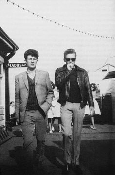 A young Billy Fury and Johnny Laker