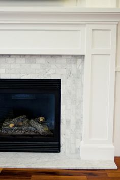Great before and after. I like how they used the space on either side of the fireplace for built-in hutches. It makes the fireplace seem more flush with the wall and less overbearing. It would make the room smaller, though.