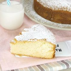 Versa il latte caldo nell'impasto, dovete provarla assolutamente!INGREDIENTI4 uova sale 220g zucchero 200g farina 10g lievito per dolci 150ml latte caldo 80g burrozucchero a velo q.b. PREPA