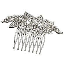 Cubic Zirconia Flower Hair Slide, Silver bride wedding day inspriration