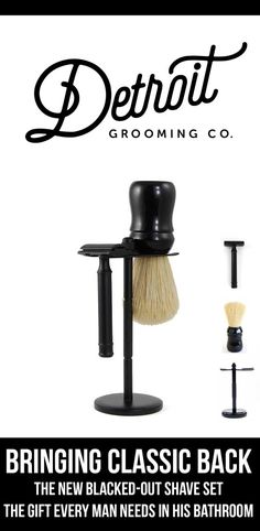 Our Classic Matte Black Shave Set - Our Best Selling Shave Set (Every Man Wants and Needs for His Bathroom Sink)