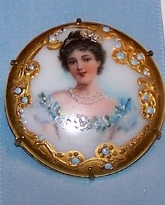Tea Cottage Pretties: #8 LIMOGES LADY BROOCHES