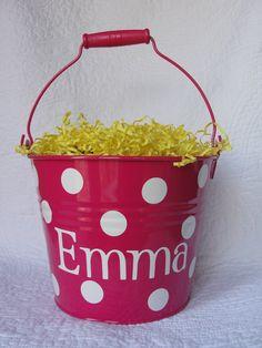 Monogrammed Easter Bucket