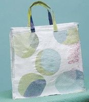Fused plastic bags to make a purse