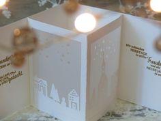 Anleitung für Laternenkarte - Stampin up - Weihnachten - Noel Chrismas Christian Christmas Cards, Christmas Cards 2017, Stampin Up Christmas, Xmas Cards, Handmade Christmas, Christmas Crafts, Stampin Up Weihnachten, Up Book, Fancy Fold Cards
