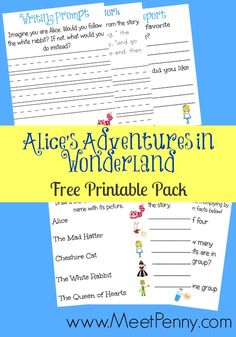 Alice in Wonderland Unit Study with free printable pack