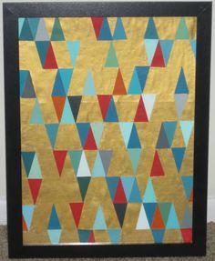 Golden Skies: Triangle Art