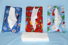 This listing is for a SET of 3 purse tissue holders and the price INCLUDES shipping to USA address!  This set includes 1 of each of the following designs - all made from 100% cotton fabric - new &
