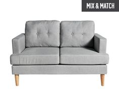 Buy HOME Joshua 2 Seater Fabric Sofa - Light Grey at Argos.co.uk, visit Argos.co.uk to shop online for Sofas, Living room furniture, Home and garden