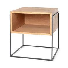 Nachttisch aus Mischholz, 47x47x51cm, natur Folding Furniture, Loft Furniture, Iron Furniture, Small Furniture, Recycled Furniture, Industrial Furniture, Modern Furniture, Furniture Design, Architecture 3d