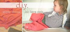 Upcycled Toddler Harem Pants