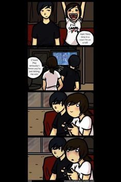 Me and Doll (Comic, I think I'm in love with a Derp) Cute Couple Comics, Couples Comics, Comics Love, Cute Couple Art, Anime Love Couple, Cute Comics, Funny Comics, Relationship Comics, Relationship Goals Pictures