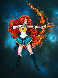 Sailor Merida: Sailor Moon + Brave- there was no way I could see this and not pin it