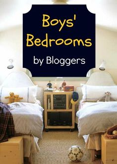 Bedrooms designed and decorated for boys by their blogger moms. Great DIY inspiration for toddlers to teens at Remodelaholic. @JENNIE MILLER- I have no boys yet but thought of you with those 3 little men you have:)))