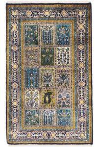 "Traditional ""Jaali Pardah Qum Rug""  #interiordesign #homedecor #onlineshopping #Rugs #antiquerugs"