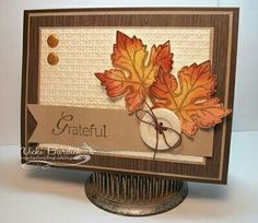 handmade Thanksgiving card ... die cut leaves ... like the layout ....