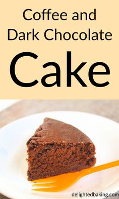 Coffee and dark chocolate cake recipe: This cake is soft, moist and perfect for those who like chocolate cakes. Chocolate Tea Cake, Chocolate Recipes, Chocolate Quotes, Chocolate Bars, Indian Desserts, Fun Desserts, Delicious Desserts, Dessert Recipes, Dessert