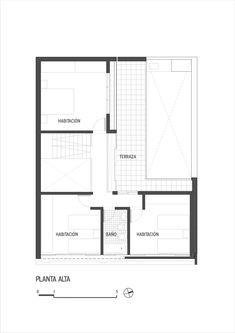 Casa Güemes,Planta Pavimento Superior