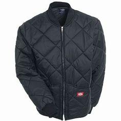 Dickies Men's 61242 BK Black Diamond Quilted Nylon Jacket