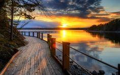 Обои bridge, sunrise, beach, landscape, море, sunset, океан, солнце, sky, scenery, природа, sun, ocean, рассвет, небо, ...