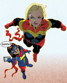 Captain Marvel and Ms Marvel by jamieslorry.deviantart.com on @DeviantArt