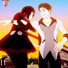 Ruby and Uncle Qrow (gif)