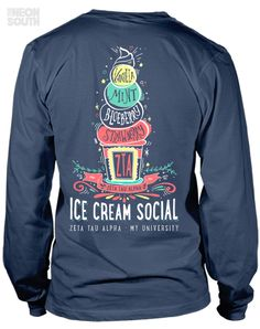 Fresh New Designs!! Visit our site to get your customized order started. Zeta Tau Alpha | Ice Cream Social | Mixer | Ice Cream | More Scoops | Sorority Shirts | Sorority Tees | Sorority Tanks | Greek Tees | Greek Tanks | Sorority Shirt Ideas | Greek Shirts